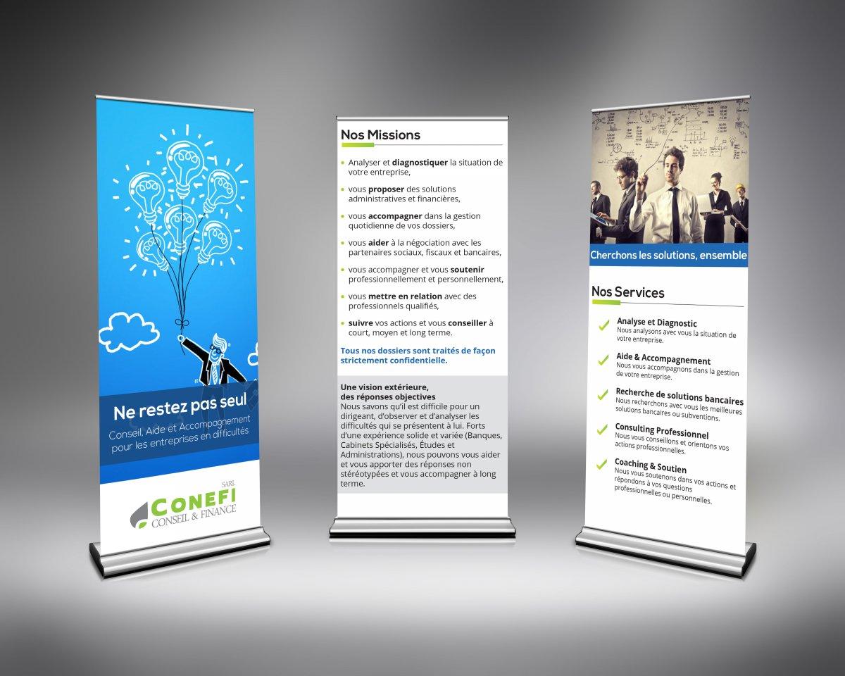Super Pack Communication pour CONEFI Conseil et Finance - Communication  UR06